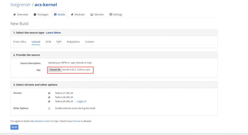 Fedora Build ACS Overr    | Wiki as a Service